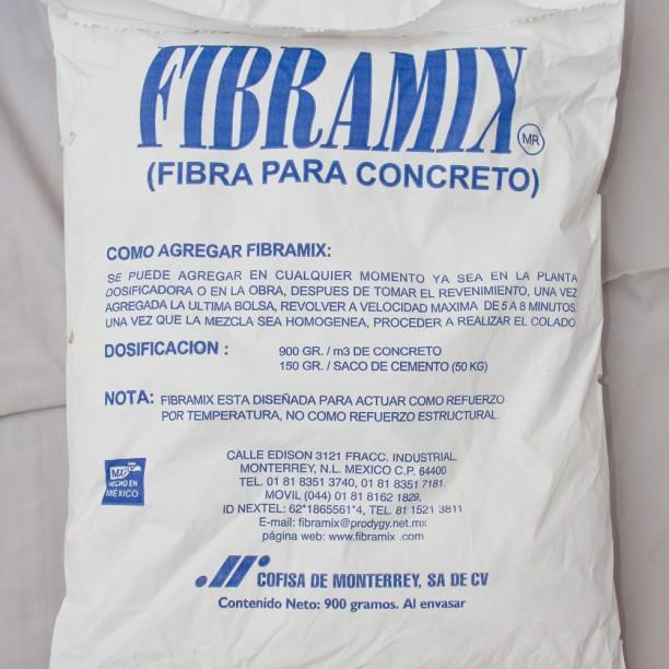 fibra para concreto fibramix
